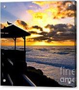 La Jolla At Sunset By Diana Sainz Acrylic Print by Diana Sainz