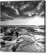 La Jolla In Black And White Acrylic Print