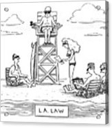 L.a. Law Acrylic Print