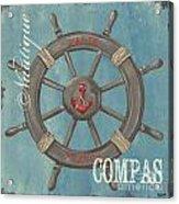 La Mer Compas Acrylic Print by Debbie DeWitt