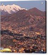 La Paz Skyline At Sundown Acrylic Print