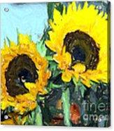 La Peinture Impressionniste De Tournesol Acrylic Print