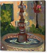 La Quinta Resort Fountain Acrylic Print