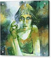 La ragazza che fumava gauloises Acrylic Print