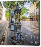 La Rambla Fountain  Acrylic Print