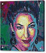 La Reina De Miami Acrylic Print by Maria Arango