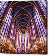 La Sainte-chapelle Upper Chapel, Paris Acrylic Print