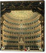 La Scala, Milan, During A Performance Acrylic Print