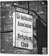 La Solidarite Association Belgium Club Acrylic Print