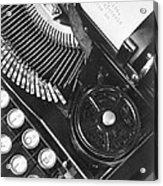La Tecnica - The Typewriter Of Julio Acrylic Print