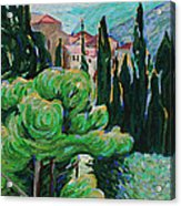 La Turbie Hills Above Monaco Acrylic Print