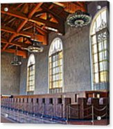 Los Angeles Union Station At Its 75th Anniversary Acrylic Print