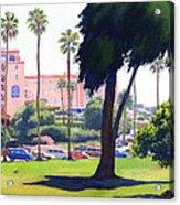 La Valencia Hotel And Cypress Acrylic Print