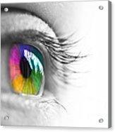 La Vie En Couleurs Acrylic Print by Delphimages Photo Creations
