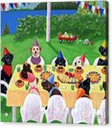 Labrador Party Acrylic Print