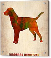 Labrador Retriever Poster Acrylic Print by Naxart Studio