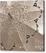 Lace Parasol In Sepia Acrylic Print