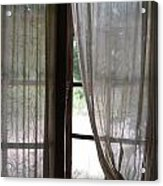 Lace Window Covering. Acrylic Print