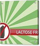 Lactose Free Banner Acrylic Print
