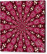 Lacy Orchid Kaleidoscope Acrylic Print