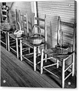 Ladder Back Chairs And Baskets Acrylic Print by Lynn Palmer