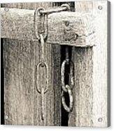 Ladder Chain Bw Acrylic Print