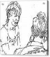 Ladies Chatting Acrylic Print