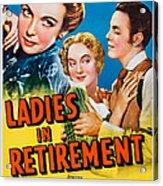 Ladies In Retirement, Us Poster, Ida Acrylic Print