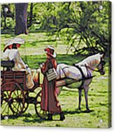 Ladies In The Meadow Acrylic Print
