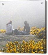 Dublin In The Mist Acrylic Print