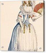 Ladies Turkish Style Evening Dress Acrylic Print