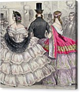 Ladies Wearing Crinolines At The Royal Italian Opera Acrylic Print