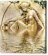 Lady Bathing 2 Acrylic Print