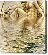 Lady Bathing Acrylic Print