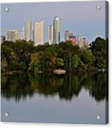 Lady Bird Lake In Austin Texas Acrylic Print