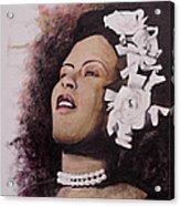 Lady Blues Acrylic Print