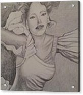 Lady Acrylic Print by Debra Piro