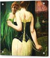 Lady Dressing Acrylic Print