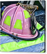 Lady Firefighter Acrylic Print