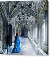 Lady In A Corridor Acrylic Print