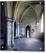 Lady In Abbey Room With Doves Acrylic Print