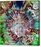 Lady In Glass Acrylic Print