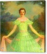 Lady In Green Acrylic Print