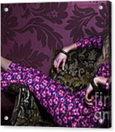 Lady In Pink... Acrylic Print