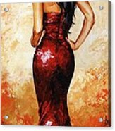 Lady In Red 035 Acrylic Print
