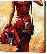 Lady In Red #25 Acrylic Print
