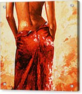 Lady In Red 27re Large  Acrylic Print