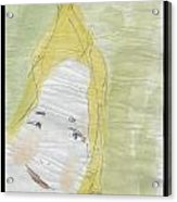 Lady In The Floor With Yellow Hair Acrylic Print