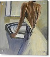 Lady In The Mirror Acrylic Print