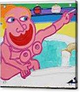 Lady In The Tub Acrylic Print